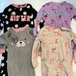 Lot of 4 footie pajamas!
